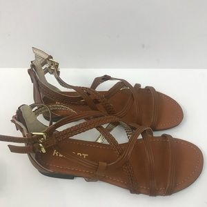"REPORT ""Georgya"" Cognac color  flat sandal NWOT 7"